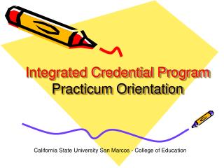 Integrated Credential Program Practicum Orientation