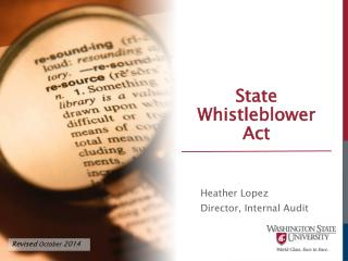 State  Whistleblower  Act