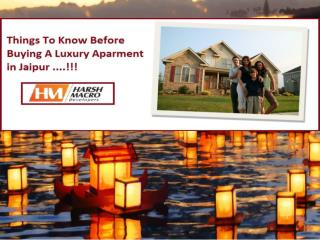 Things to know before buying a luxury flats in Jaipur
