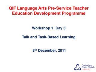 QIF Language Arts Pre-Service Teacher Education Development Programme