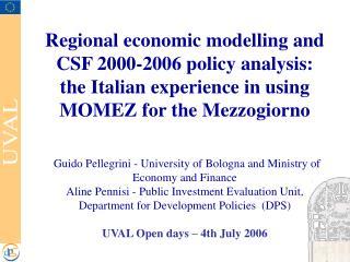 The econometric model for the Mezzogiorno (MOMEZ)
