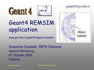 Geant4 REMSIM  application gefn.it/geant4/space/remsim