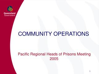 COMMUNITY OPERATIONS