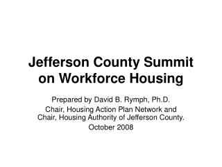 Jefferson County Summit on Workforce Housing