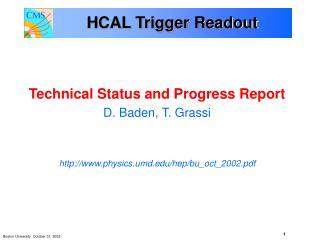 HCAL Trigger Readout