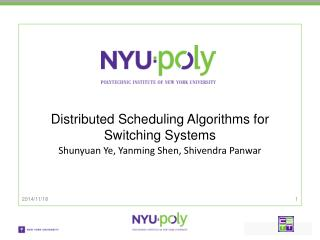 Distributed Scheduling Algorithms for Switching Systems