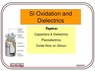 Si Oxidation and Dielectrics