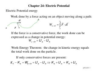 Chapter 24: Electric Potential