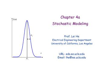 Chapter 4a Stochastic Modeling