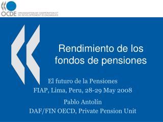 Rendimiento de los fondos de pensiones