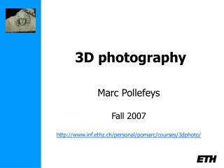 3D photography