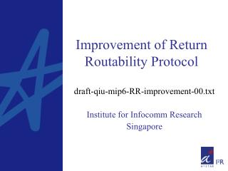Improvement of Return Routability Protocol