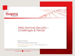 Web Services Security – Challenges & Trends