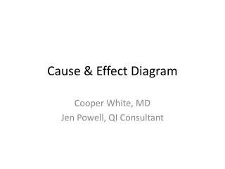 Cause & Effect Diagram