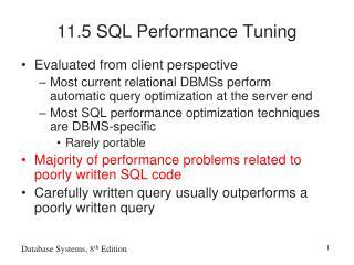 11.5 SQL Performance Tuning