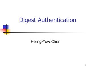 Digest Authentication