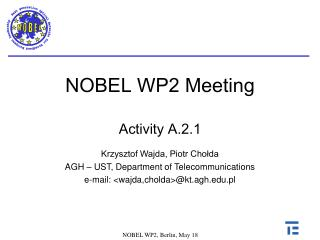 NOBEL WP2  Meeting Activity A.2.1