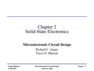 Chapter 2 Solid-State Electronics