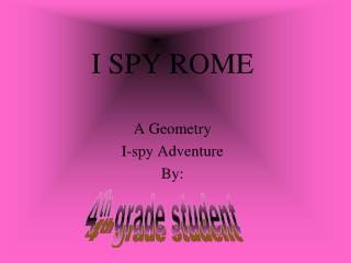 I SPY ROME