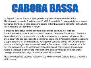 CABORA BASSA