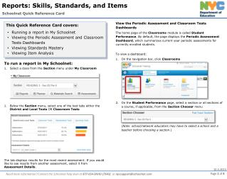 Schoolnet Quick Reference Card