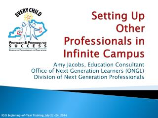 Setting Up Other Professionals in Infinite Campus