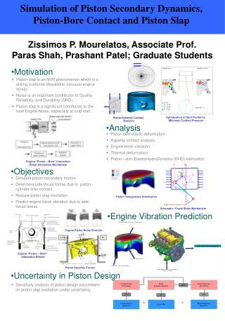 Zissimos P. Mourelatos, Associate Prof. Paras Shah, Prashant Patel; Graduate Students