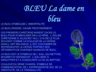 BLEU La dame en bleu