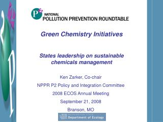 Green Chemistry Initiatives
