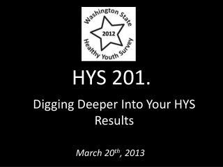 HYS 201.