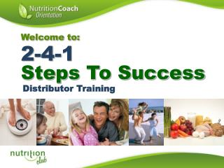 Welcome to:  2-4-1  Steps To Success
