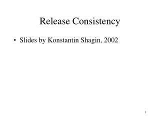 Release Consistency