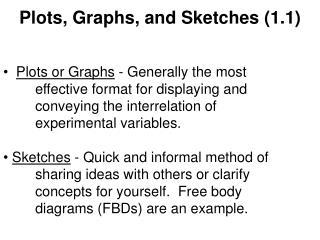 Plots, Graphs, and Sketches (1.1)