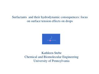 Surfactants  and their hydrodynamic consequences: focus on surface tension effects on drops