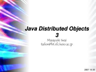 Java Distributed Objects 3