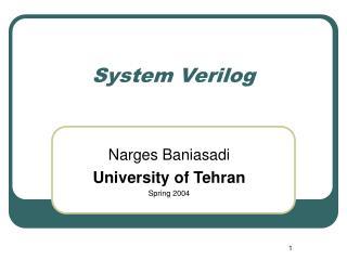System Verilog