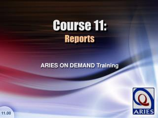 Course 11: Reports