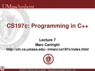 CS197c: Programming in C++