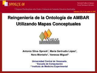 Reingenier a de la Ontolog a de AMBAR Utilizando Mapas Conceptuales
