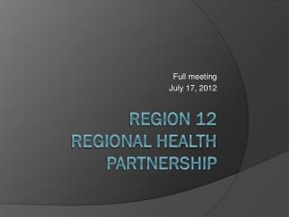 Region 12 Regional Health Partnership