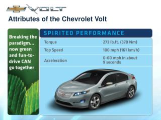 Attributes of the Chevrolet Volt