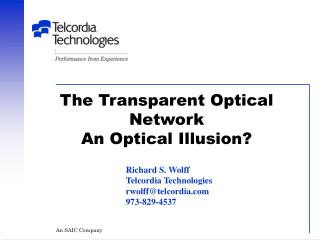 The Transparent Optical Network An Optical Illusion?