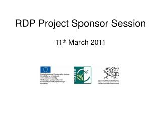 RDP Project Sponsor Session
