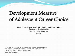 Development Measure of Adolescent Career Choice