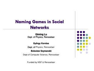 Naming Games in Social Networks