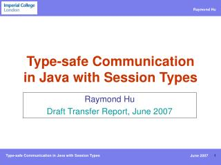Type-safe Communication in Java with Session Types