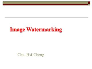 Image Watermarking