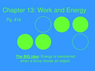 Chapter 13: Work and Energy