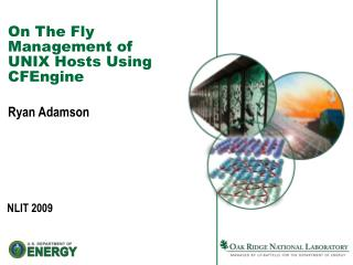 On The Fly Management of UNIX Hosts Using CFEngine
