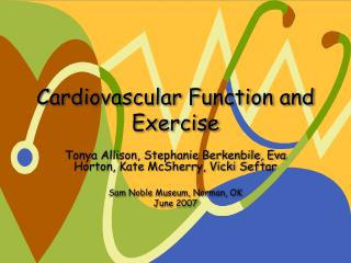 Cardiovascular Function and Exercise